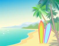 Tropische Strand-Sommer-Landschaft Küstenwelle heiß Lizenzfreies Stockfoto