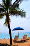 Tropische Strand-Szene Lizenzfreies Stockfoto