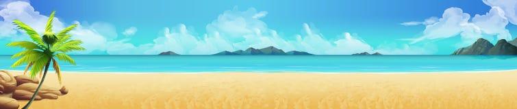 Tropische strandachtergrond vector illustratie