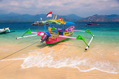 Tropische strandboten Royalty-vrije Stock Foto