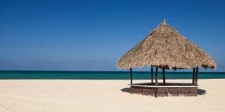 Tropische Strandhütte Lizenzfreies Stockbild