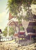 Tropische strandhut Royalty-vrije Stock Fotografie