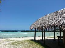 Tropische strandhut Royalty-vrije Stock Afbeeldingen