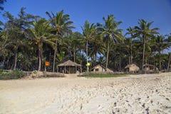 Tropische strandhutten Stock Foto's