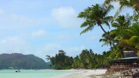 Tropische strandmening, Seychellen stock video