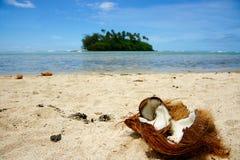 Tropische strandscène. Stock Afbeelding