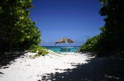 Tropische Strandszene Lizenzfreies Stockbild