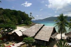Tropische strandtoevlucht Stock Afbeelding