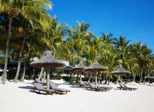 Tropische Strandtoevlucht Stock Foto