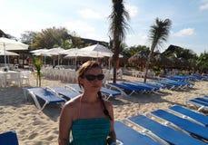 Tropische strandtoevlucht Stock Foto's