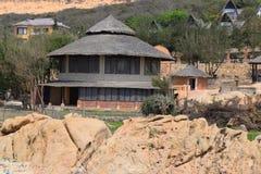 Tropische strandtoevlucht dichtbij muine, Vietnam Stock Afbeeldingen