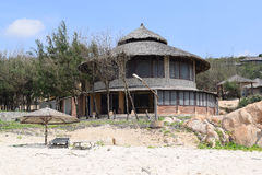 Tropische strandtoevlucht dichtbij muine, Vietnam Royalty-vrije Stock Afbeeldingen