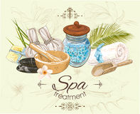 Tropische style spa banner Stock Foto's