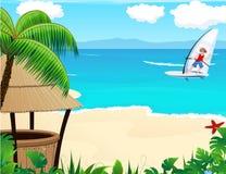 Tropische toevlucht Stock Afbeelding