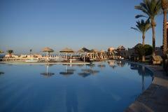 Tropische toevlucht in Egypte Royalty-vrije Stock Foto's