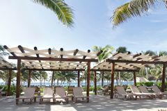 Tropische Toevlucht en Strand stock foto