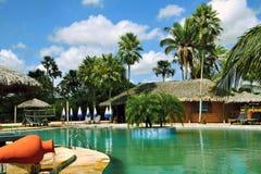 Tropische toevluchtpool Royalty-vrije Stock Foto
