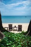 Tropische vakantie op het strand Royalty-vrije Stock Fotografie