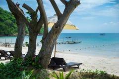 Tropische vakantie op het strand Stock Foto's