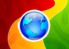 Tropische van de Aarde van het Eiland Illustratie Als achtergrond Stock Fotografie