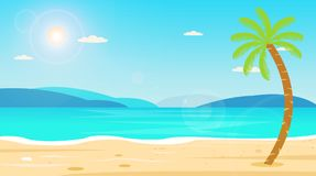 Tropische van de de Vakantievakantie van de Strandreis de Vrije tijdsaard Royalty-vrije Stock Afbeeldingen
