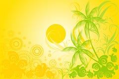Tropische vectorachtergrond Stock Foto's