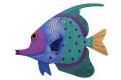 Tropische Vissen die op Wit worden geïsoleerda Stock Foto's
