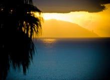 Tropische zonsondergang Royalty-vrije Stock Foto