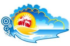 Tropischer abstrakter Hintergrund Stockfoto