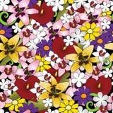 Tropischer Blumenhintergrund Lizenzfreies Stockbild