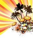 Tropischer Disco-Party-Vektor Stockfotos