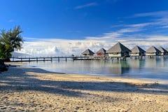Tropischer Erholungsort Tahiti Stockfotos