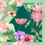 Tropischer Garten Lotuss Stockbilder