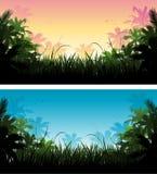 Tropischer Hintergrund des Dschungels stock abbildung