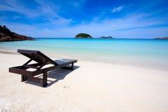 Tropischer Insel-Strand Stockfoto