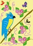 Tropischer lächerlicher Papagei Lizenzfreies Stockfoto