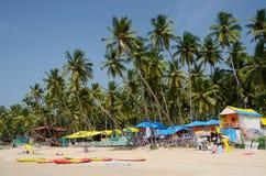 Tropischer Palolem-Strand in Goa, Indien Stockfotografie