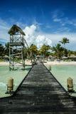 Tropischer Pier Stockbild