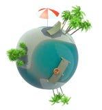 Tropischer Planet auf Weiß Stockbilder