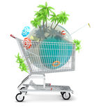 Tropischer Planet im Warenkorb Stockbilder