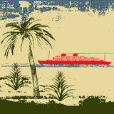 Tropischer Reiseflug-Hintergrund lizenzfreie abbildung