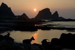 Tropischer Sonnenaufgang Lizenzfreie Stockfotos