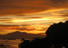 Tropischer Sonnenuntergang Stockbilder