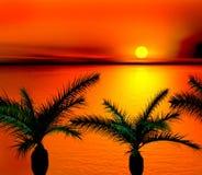 Tropischer Sonnenuntergang stock abbildung