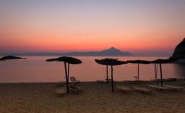 Tropischer Sonnenuntergang Stockbild