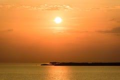 Tropischer Sonnenuntergang in Dänemark Stockfoto