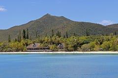 Tropischer Strand auf Insel von Kiefern, Neukaledonien Stockfotografie