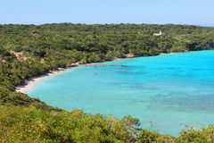 Tropischer Strand auf Lifou-Insel, Neukaledonien Stockbild