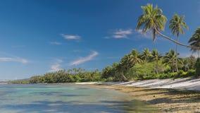 Tropischer Strand auf Südseite von Upolu, Samoa-Insel stock footage