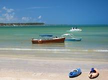 Tropischer Strand in Brasilien Lizenzfreies Stockfoto
